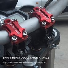 SPIRIT bête-guidon de Moto 22mm/28mm   Riser accessoires de Motocross Moto, Pit Bike café Racer Pitbike Chopper