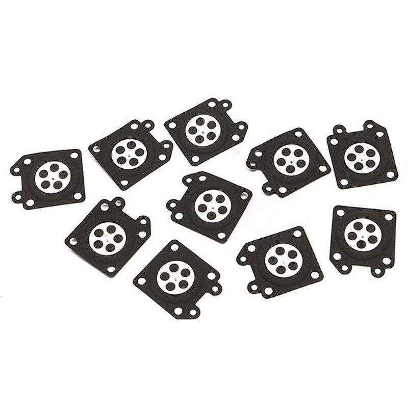 Carburador de borracha carb substituição de medição de diafragma reparação 10 peças motosserra para walbro 95-526 95-526-9 95-526-9 conjunto de carro preto