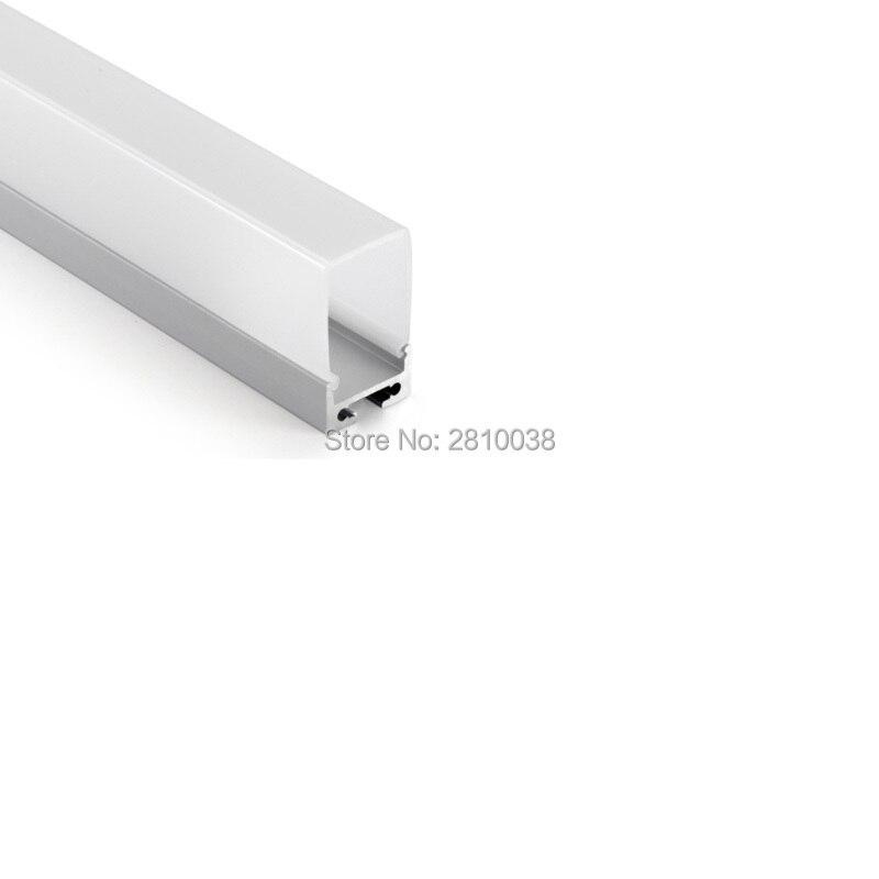 100 X 2M Sets/Lot Office lighting led strip profile aluminium and deep U type led aluminum profile for suspending lights