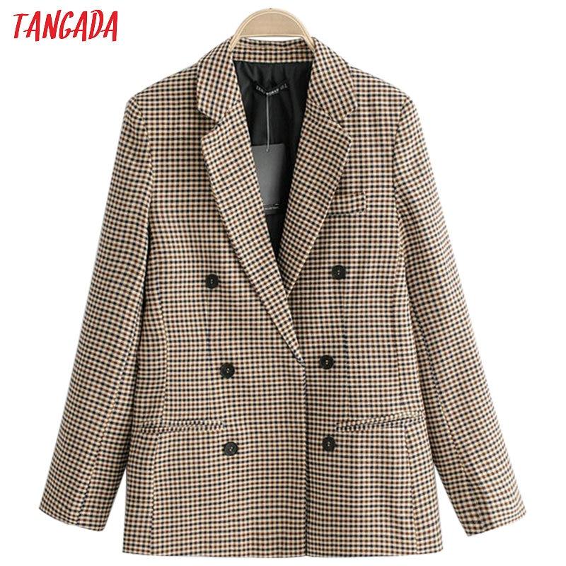 Tangada-سترة نسائية كلاسيكية متقلب ، جاكيت أنيق بأكمام طويلة ، ملابس عمل ، بدلة رسمية ، QJ76