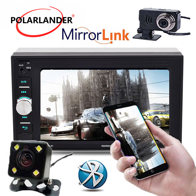 6,2 Mp3 Radio de coche estéreo MP5 Player Venta caliente 2 Din Bluetooth OLED pantalla a Color enlace 12V pantalla táctil FM 7622D