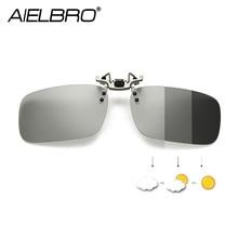 Erkekler fotokromik gözlük balıkçılık polarize klip gözlük gece sürüş polarize gözlük balıkçılık gözlük klip