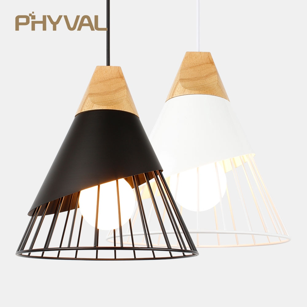 PHYVAL-E27 مصباح معلق من الألومنيوم على الطراز الاسكندنافي ، تصميم حديث ، إضاءة داخلية مزخرفة ، مثالي لغرفة النوم أو المطبخ.