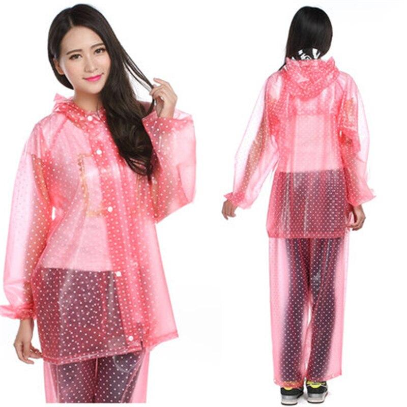 PVC largo transparente Mujer chaqueta de lluvia Mujer Camping Mujer Impermeable ropa de lluvia Abrigo Mujer rompevientos LZO226