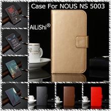 AiLiShi PU étui en cuir pour NOUS NS 5003 luxe Flip housse de protection portefeuille avec fentes pour cartes NS5003 NS 5003 NOUS étui en Stock