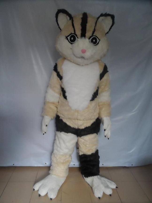 Renard gris adulte trajes de mascotas vestido de livraison gratuite