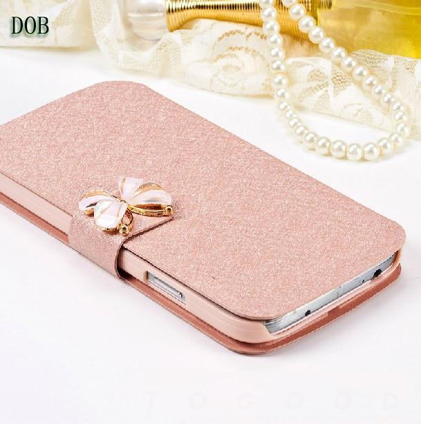 For Vodafone Smart V8 Case 5.5 inch Luxury PU Leather Phone Case For Vodafone Smart V8 VFD710 VFD-710 Butterfly Case Cover