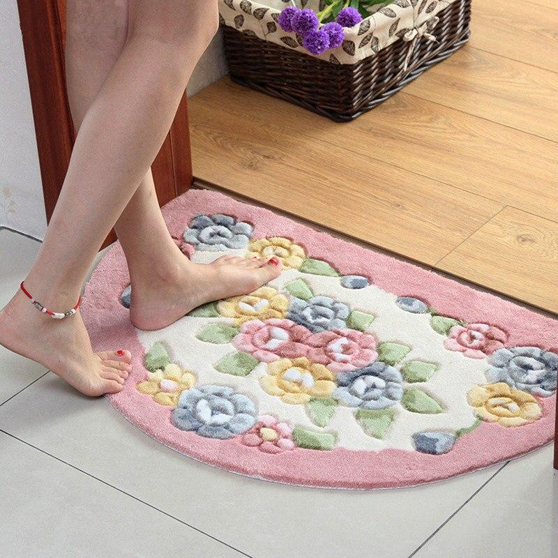 Nueva Alfombra clásica de baño, Alfombra antideslizante, Alfombra de baño, alfombras, Alfombra semicircular para dormitorio, cocina, inodoro, Alfombra, Alfombra