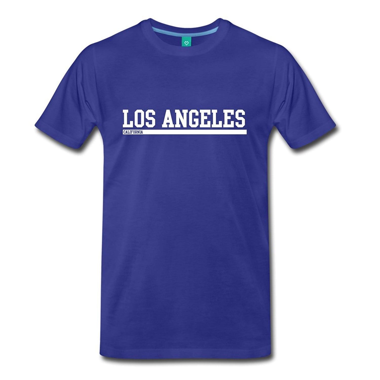 Los Angeles California Cool Lettering camiseta Premium para hombres camisetas para Hombres estilo de verano moda Swag hombres camisetas de verano o-cuello