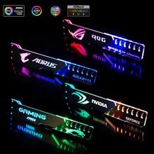 Graphics Card Support GPU Holder Bracket VGA  Frame Stand Aluminum+Acrylic ROG 12V 4PIN RGB/5V 3PIN ARGB ASUS AURA SYNC Symphony