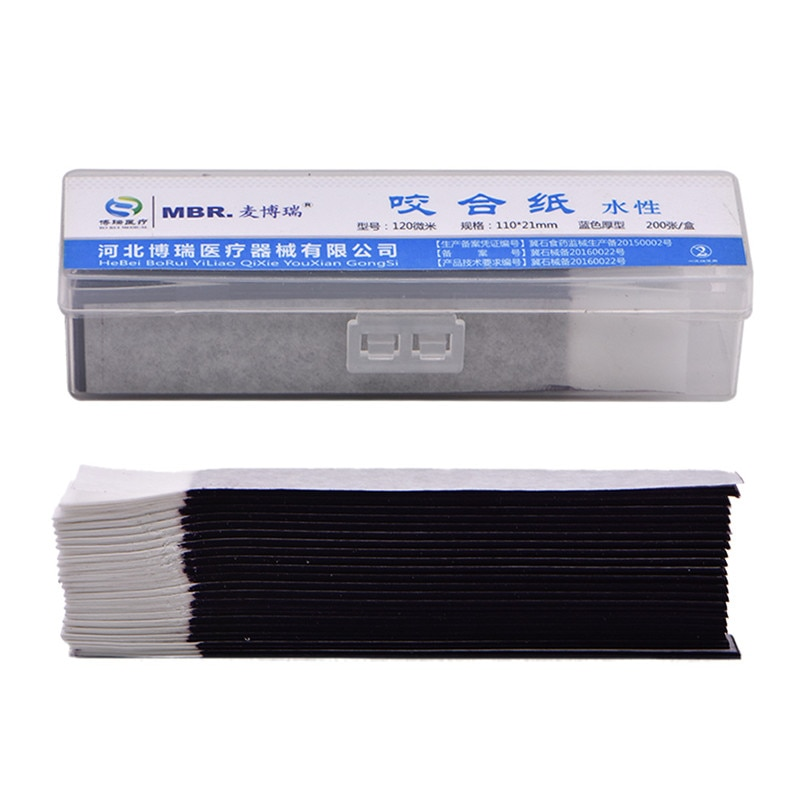 200 Sheet/box Blue Dental Articulating Paper Strips Thickness 0.12mm Dental Lab Oral Teeth Care Whitening Material 110*21mm