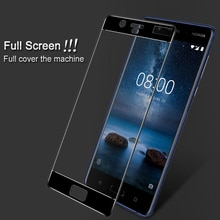 For Nokia 8 Tempered Glass 9H 3D Full Cover Explosion-proof Screen Protector Film For Nokia 8 Cover