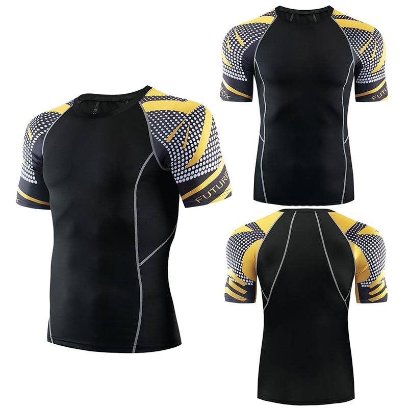 FUTUREOX marca Herren Fitness Trainingsbekleidung lycra Top 3D camiseta Kurzarm MMA corriendo culturismo superior