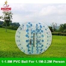 Football de bulle de boule de Zorb de corps de boule de butoir dair de PVC 100-180 cm, boule de Zorb de football de bulle à vendre, costume de boule de Zorb
