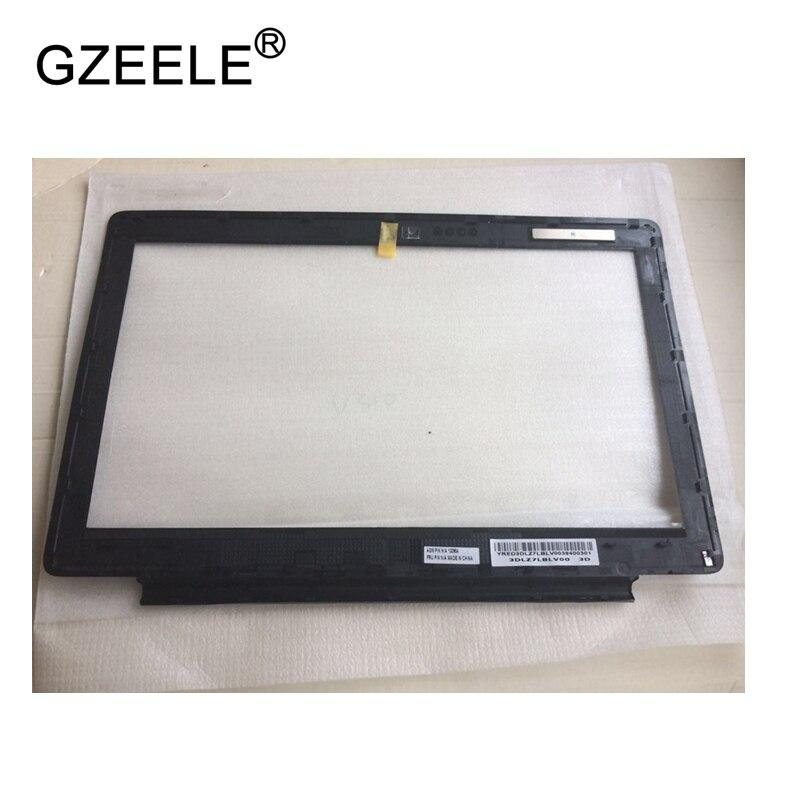 GZEELE nuevo para Lenovo U310 LCD cubierta frontal tipo bisel Marco de pantalla blanco negro 90200787 90200786 LCD bisel cubierta frontal estuche de exposición