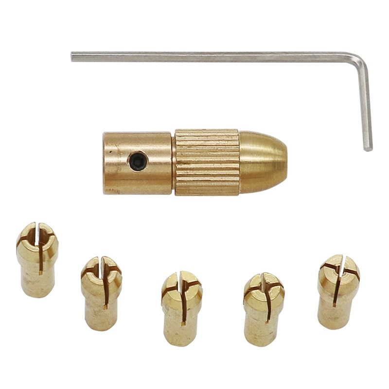 QSTEXPRESS Hohe Qualität Besten Preis 5 teile/satz 0,5-3mm Kleine Elektrische Bohrer Collet Micro Twist Bohrfutter set