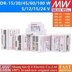 MEAN WELL DR 15W 30W 45W 60W DR-15 DR-30 DR-45 DR-60 -5 -12 -15 -24 DR-100-24 Single Output Industrial DIN Rail