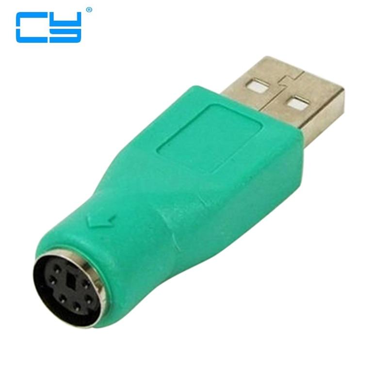 10 uds/lote Verde USB 2,0 macho a hembra PS2 Conversor Adaptador para...