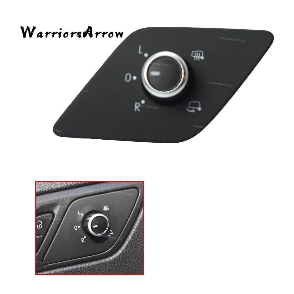 WarriorsArrow, interruptor de Control de ajuste de espejo cromado con calor para Volkswagen Jetta MK6, versión alta 2010 2011 2012 2013 16D959565A