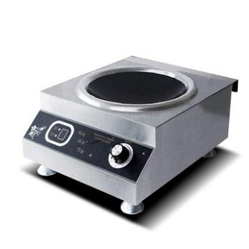 Forno eletromagnético comercial fogão de indução côncava 5000 w energia eletromagnética casa forno cozinhar alimentos calor 1pc