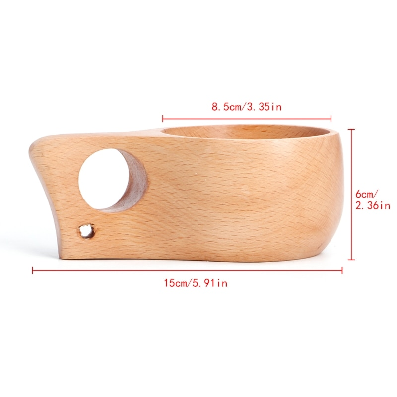 Kuksa, taza de madera artesanal, hecha a mano, anillo individual para beber, decoración para el hogar, regalo