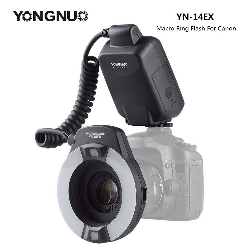 Кольцевая Макро Вспышка YongNuo YN-14EX YN14EX TTL с адаптером для Canon DLSR 550D 650D 5Ds 5Dsr 760D 5D 750D 6D
