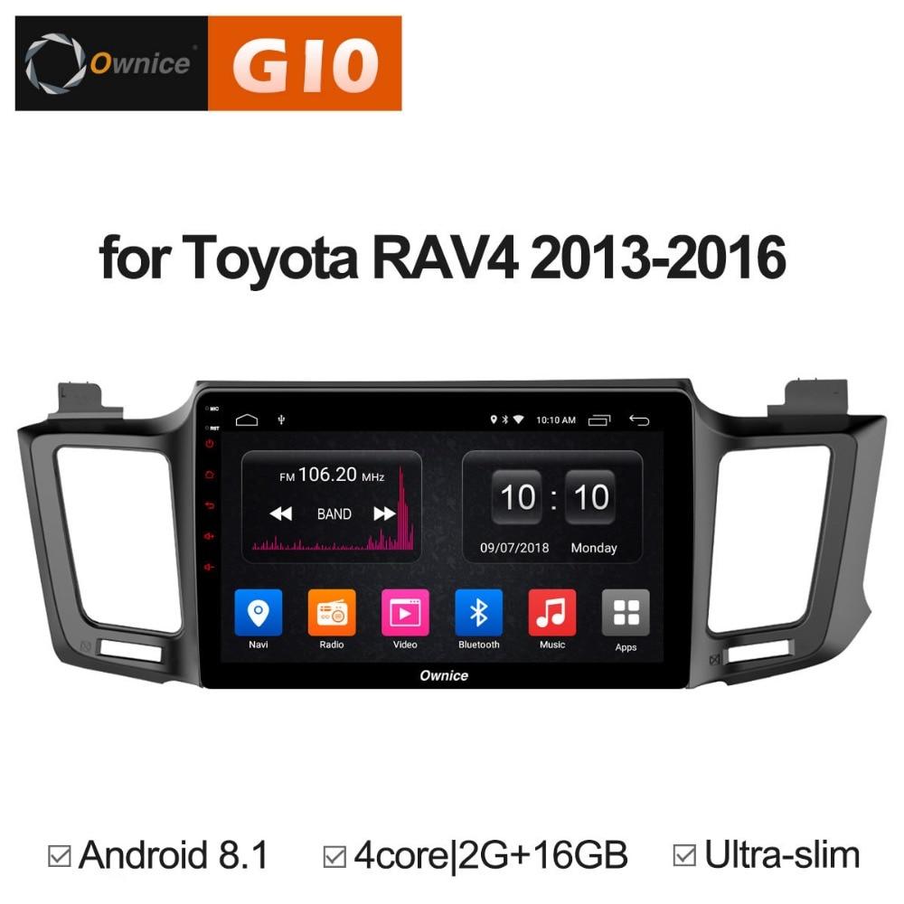 Android 8,1 Quad Core 4 2GB de RAM + ROM 16GB reproductor de DVD del coche para Toyota RAV4 2013, 2014, 2015, 2016 radio estéreo con navegación GPS TPMS