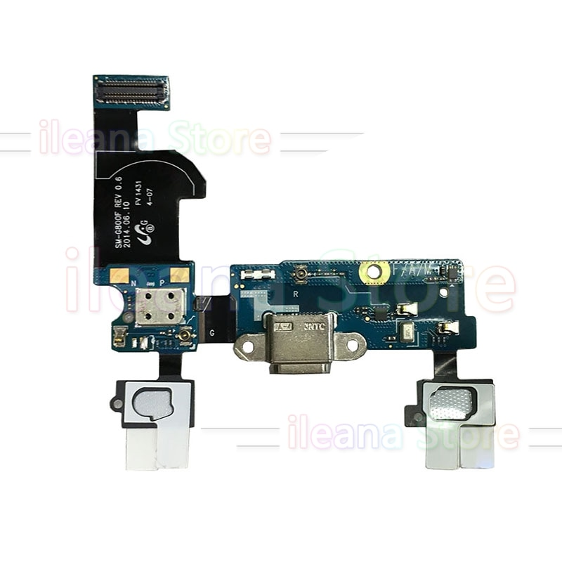 Puerto de carga USB cable flexible de conector dock para Samsung Galaxy S5 Mini G800 G800F G800H alfa G850 G850F menú Original micrófono Flex