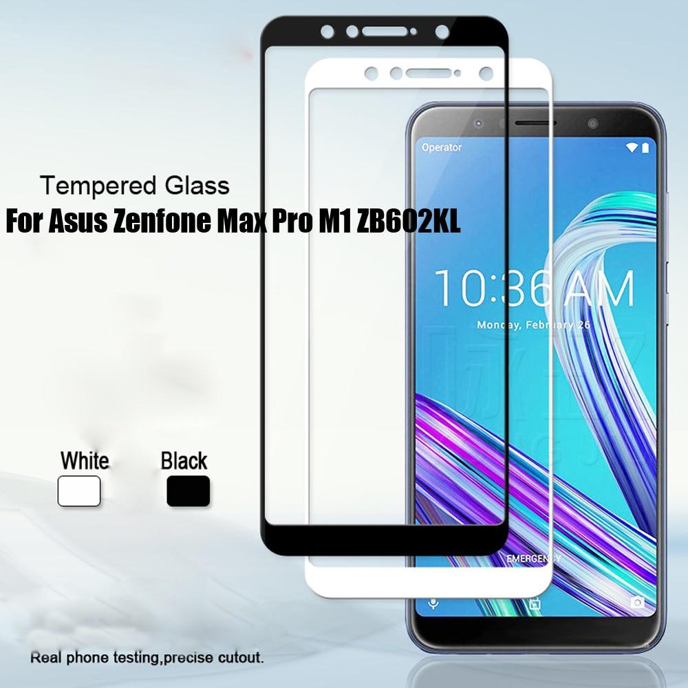 ZB602KL completa vidrio templado para Asus Zenfone Max Pro M1 ZB602KL X00TD...