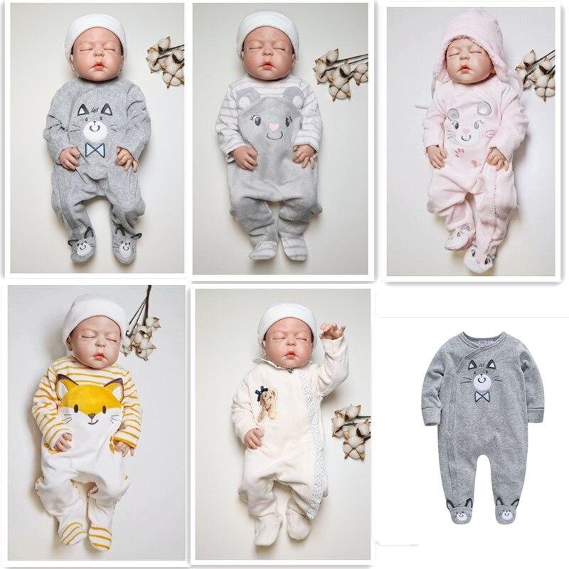 Nowonarodzone śpioszki dla niemowląt zimowe dla niemowląt chłopcy dziewczęta ubrania Plus aksamitne ciepłe niemowlę kombinezon dla malucha noworodki kostium jednoczęściowy