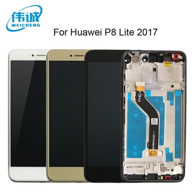 Weicheng qualidade superior para 5.2 polegada huawei p8 lite 2017 tela lcd + tela de toque com display quadro assembléia ferramentas