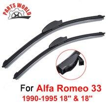 18''+18'' Front Wiper Blade For Alfa Romeo 33 1990-1995,Windscreen Wiper For Porsche Car Accessories clean windshield