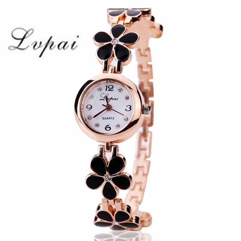 Reloj Lvpai 2019 para mujer, reloj Vintage dorado, reloj de pulsera para mujer, reloj de marca de lujo de acero inoxidable con diamantes de imitación