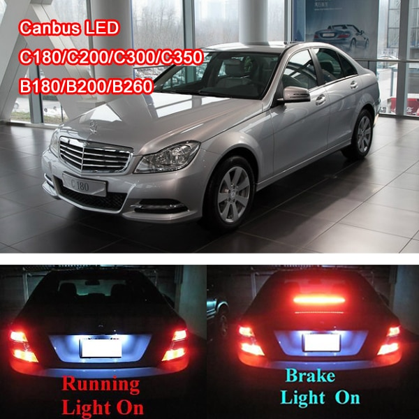 2Pcs LED Auto licht Bremse lampe, Rücklicht, nebel lampe, laufende licht Kein Fehler für C Klasse W203 W204 C180 C200 C300 C350 C63