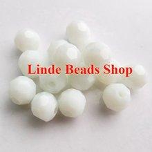 Livraison gratuite AAA Top qualité 10mm Opaque blanc albâtre cristal 5000 perles à face ronde 200 pcs/lot RB100470