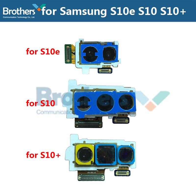 Para Samsung Galaxy S10 G973 cámara trasera para Samsung S10 más G975 S10e G970 trasera Gran Cámara módulo Flex Cable Replacement