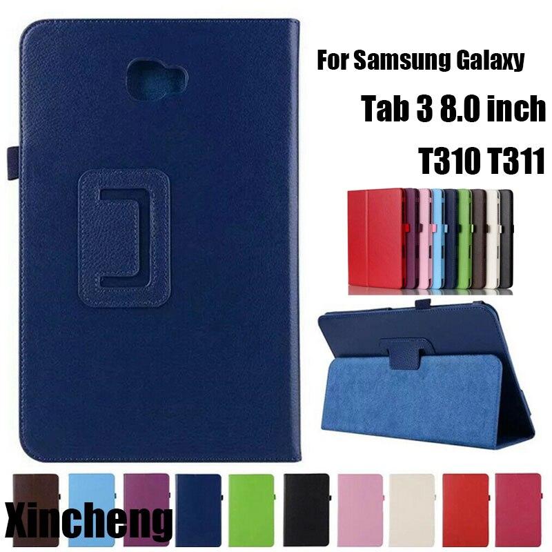 Flip Stand funda para Samsung Galaxy Tab 3 8,0 T310 T311 de fundas para tabletas para Samsung Galaxy Tab3 SM-T310 8 Shell protector