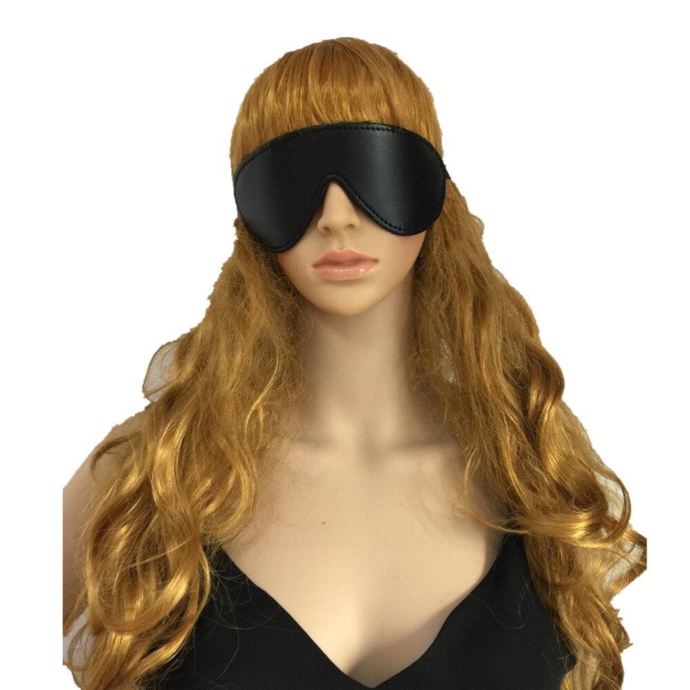 Máscara de ojo sexi de juguete sexual mascarilla para dormir ojo de gato Fiesta Club máscara para parejas SM erótico PU cuero acolchado máscara cubierta