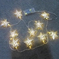 1 2m 10 leds star led string light battery powered fairy lights christmas holiday wedding decoration party lighting fairy lights