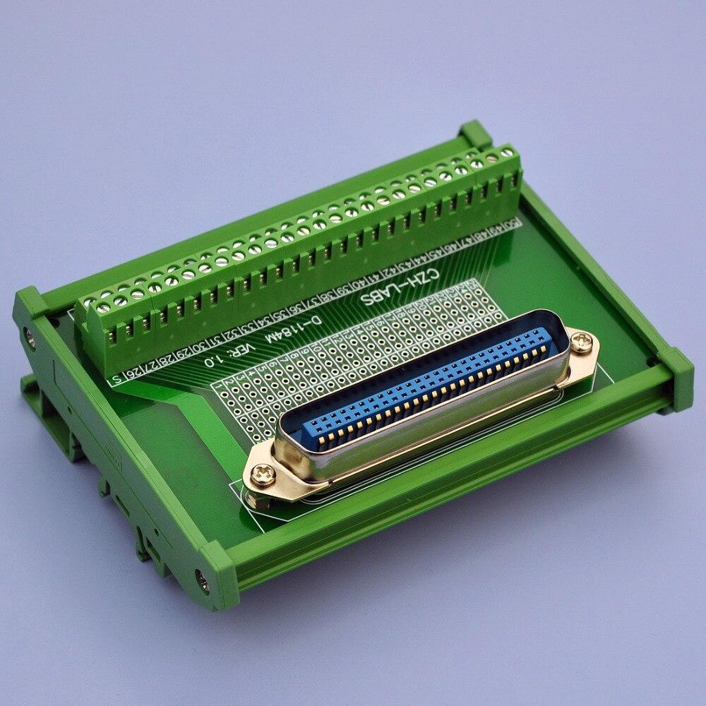 """Montaje en carril DIN 50-Pin 0.085 """"Centronics macho cinta conector módulo de interfaz"""