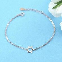 Новые поступления серебряный цвет Давид Звезда Браслеты Модный браслет для женщин