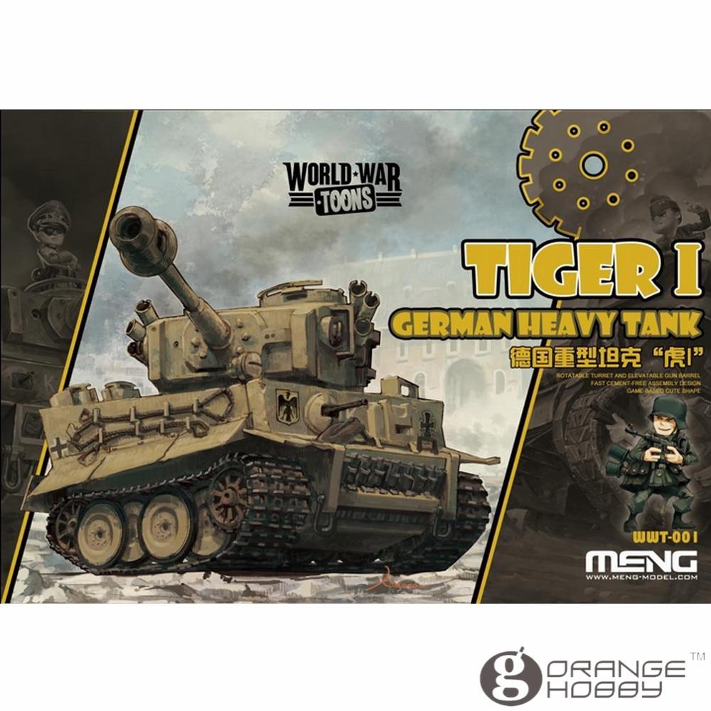 Salud Meng WWT001 Q Versin Tigre alemán tanque pesado asamblea modelo Kits de construcción de oh