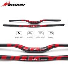 Горный велосипед Ullicyc, 3K полностью углеродный руль, плоский/поднимающийся углеродный руль для велосипеда, детали для MTB 31,8*620/640/660/680/700/720 мм CB186