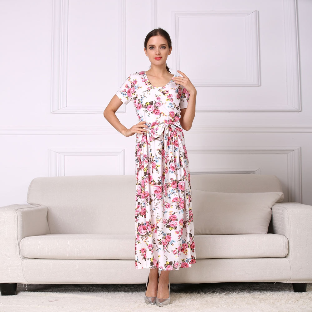 Emotion Moms New Fashion Floral Maternity Clothes for Pregnancy Breastfeeding Dresses for Pregnant Women Maternity Dress enlarge