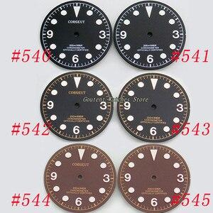 Corgeut 30.5mm Black/Coffee Dial Faces Kit ETA 2824/2836 Miyota 8205/8215 Automatic Movement Men's Watch