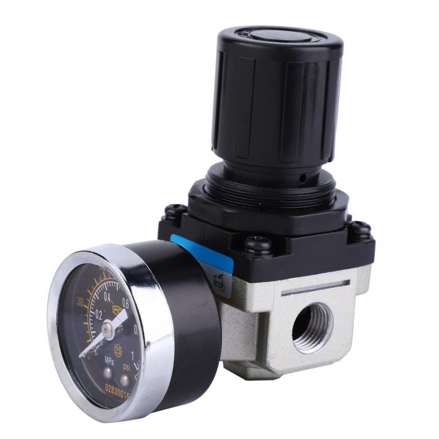 """AW3000-02 G1/4 """"Fonte Reduzir Válvula Ajustável Regulador De Pressão do Compressor de Ar do Filtro de Ar Regulador de Pressão"""