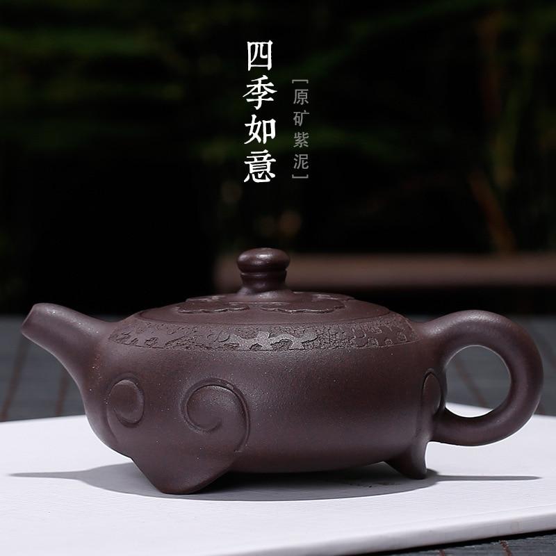 Yixing Zishahuyuan maceta plana de barro púrpura al por mayor