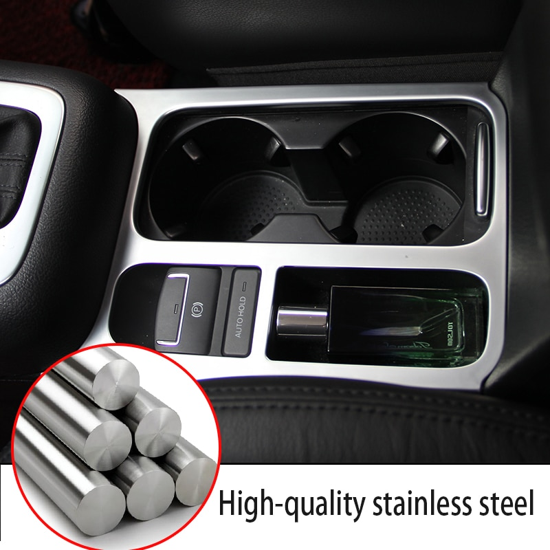 1pc Stainless Steel Water Cup Panel Trim Stickers For Volkswagen Tiguan Accessories VW Tiguan 2010 2011 2012 2013 2014 2015 2016