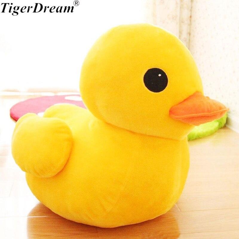 Juguetes De pato grande amarillo de Hong Kong, peluches, juguetes de peluche, almohadas para dormir bonitas para cumpleaños, regalos para bebé