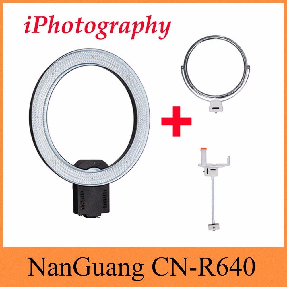 NanGuang CN-R640 CN R640 التصوير فيديو ستوديو 640 LED المستمر ماكرو الدائري ضوء 5600K يوم الإضاءة CN-65C برو تحديث